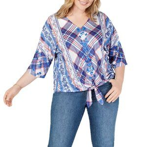 Style & Co. Women's PLUS  V-Neck Button-Up…